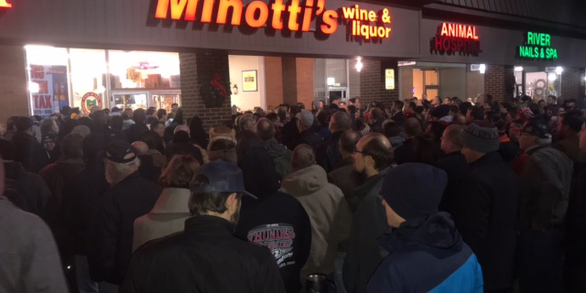 Hundreds of people lined up at Rocky River liquor store for Old Forester bourbon lottery