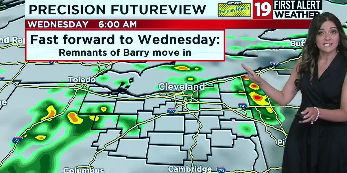 Northeast Ohio weather: Storms return to the forecast Tuesday into Wednesday