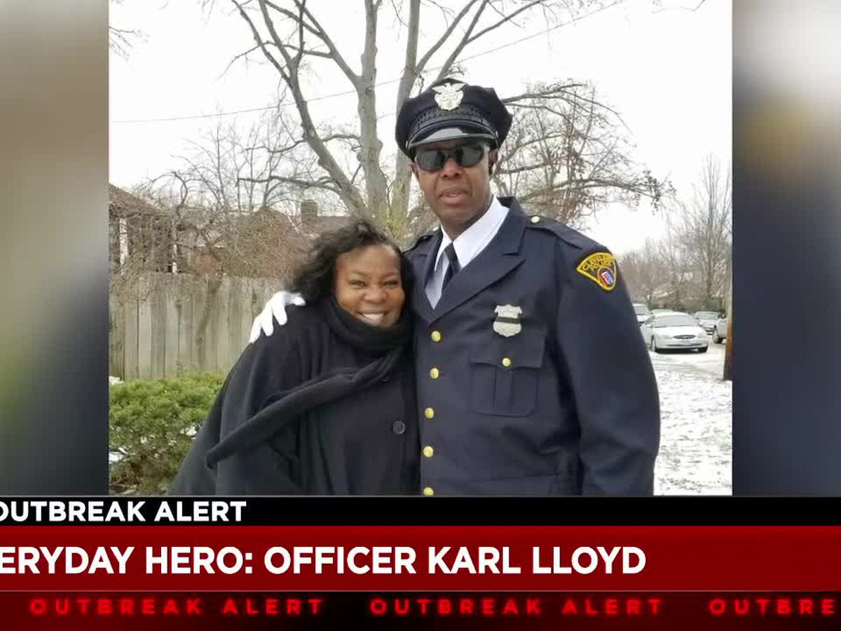 Cleveland cop recognized as everyday hero for raising spirits at Cleveland Hopkins International Airport