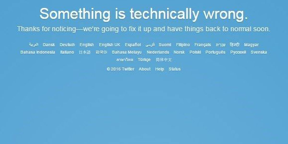 Worldwide twitter outage ends