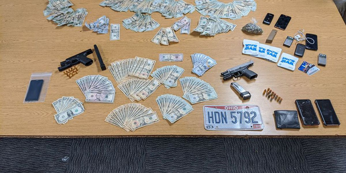 Euclid Police recover drugs, loaded handguns, large amount of cash, and 2 stolen cars while arresting 2