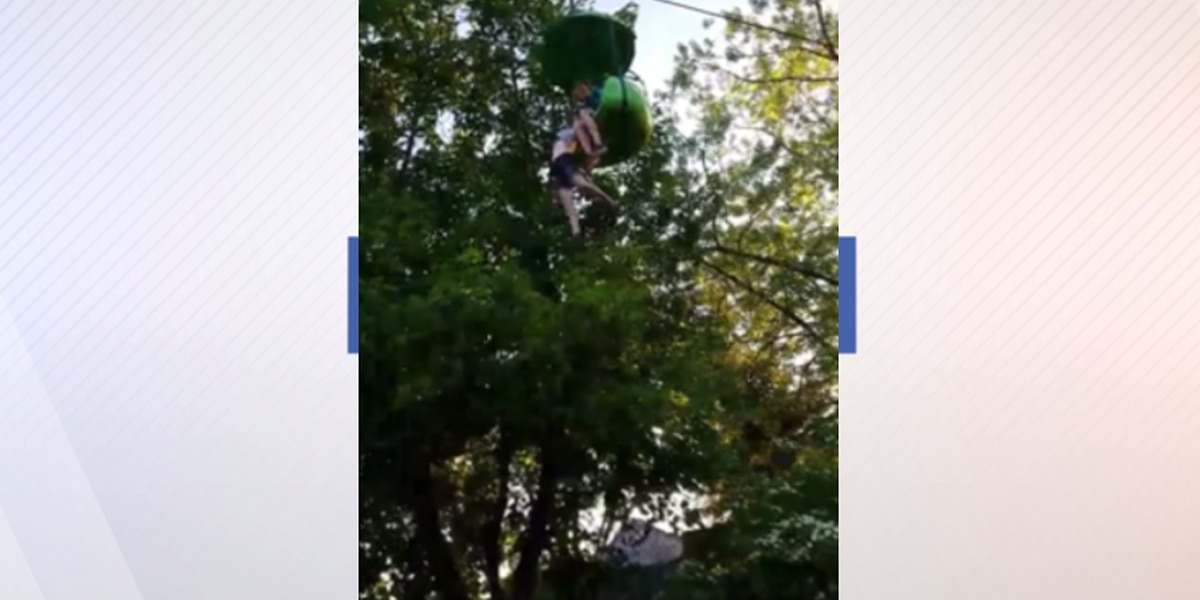 Crowd of people catch teen who fell off a ride at Six Flags (VIDEO)