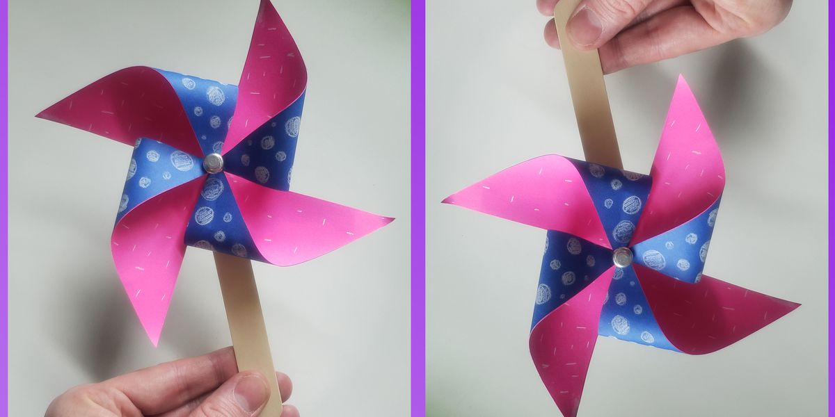 Family craft time! How to make a Paper Pinwheel