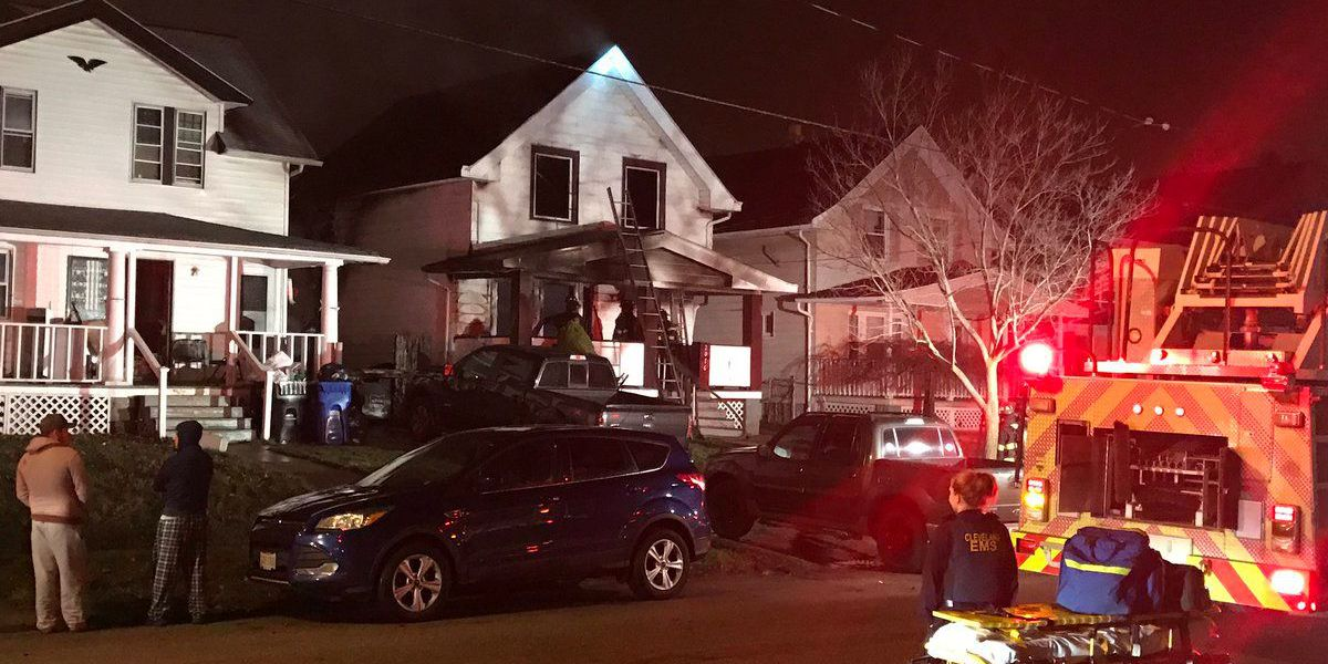 Firefighters battle early morning fire on Cleveland's west side