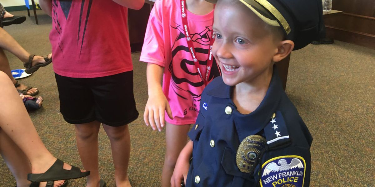 5-year-old miracle child becomes New Franklin Police Officer for the day, helps Captain Marvel and Slider on quest