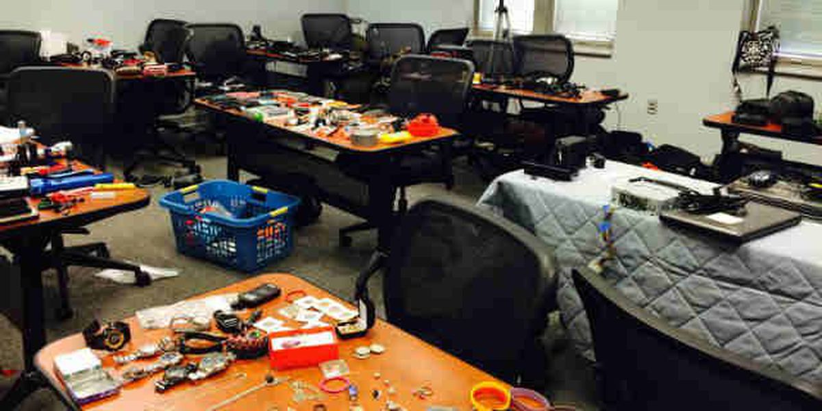 Thousands of items recovered after 80+ car break-ins