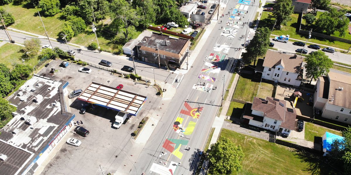 Cleveland street remains closed due to 'Black Lives Matter' mural painted across roadway