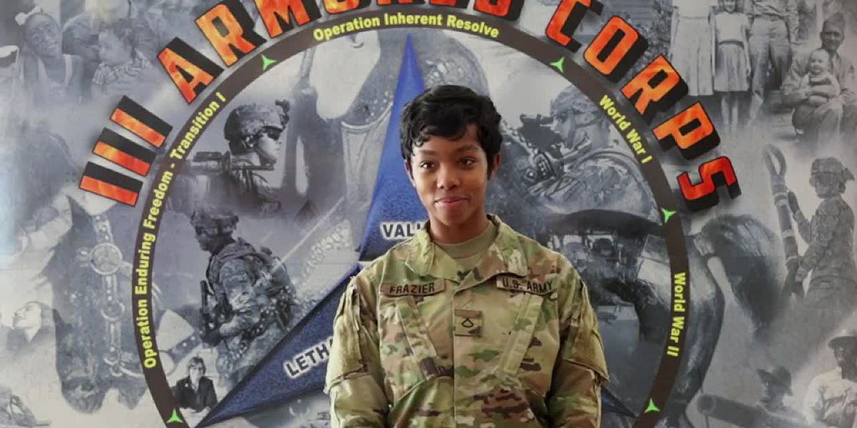 Pfc. Maya Frazier of Akron, OH