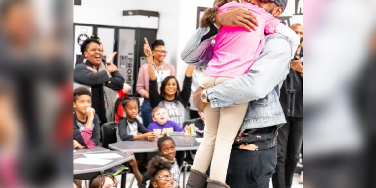 LeBron James returned to Akron's I Promise School before Cavs, Lakers game