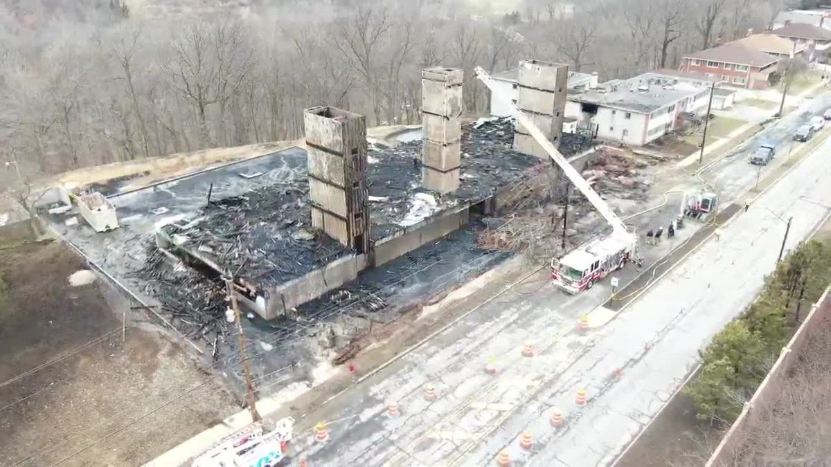 Drone 19 footage reveals destruction from building fire in Rocky River