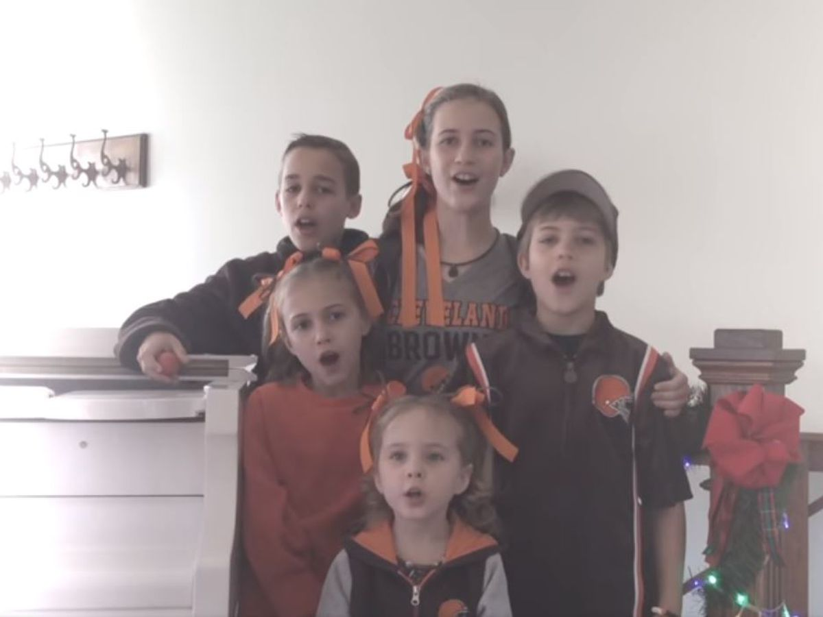 'Baker the Touchdown Maker' | Children turn Christmas classic into Cleveland Browns anthem