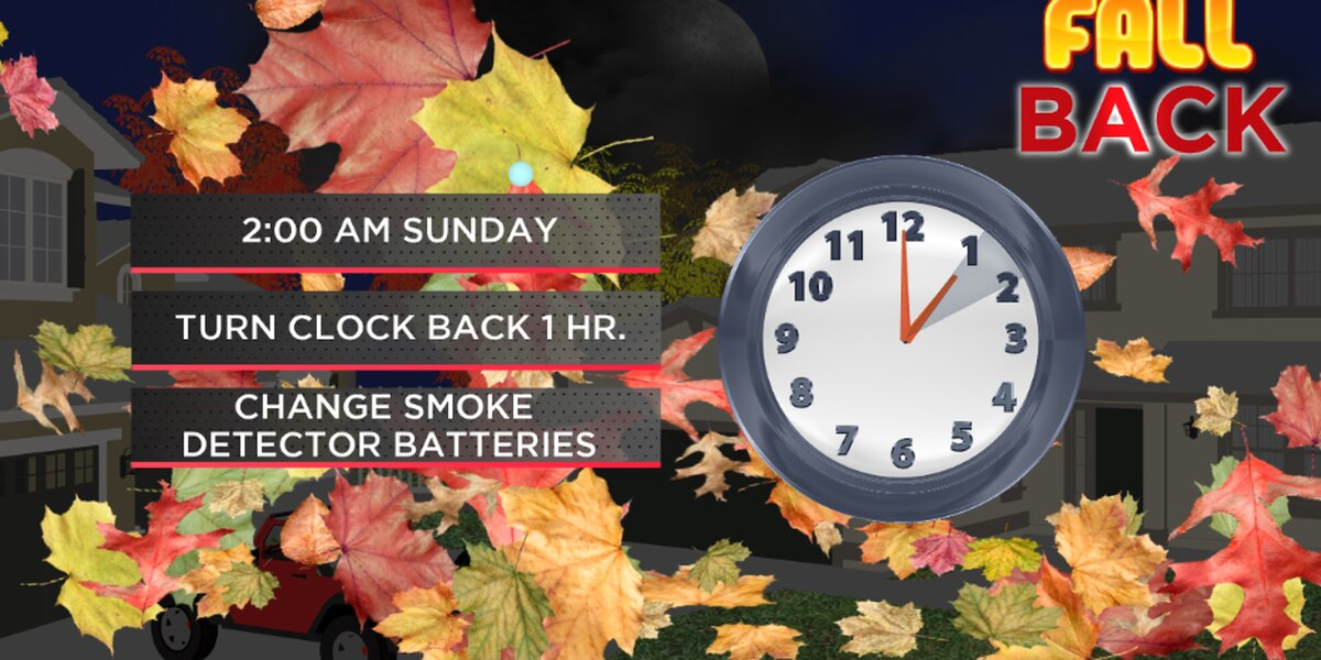 Fall Back: Daylight saving time ends Sunday