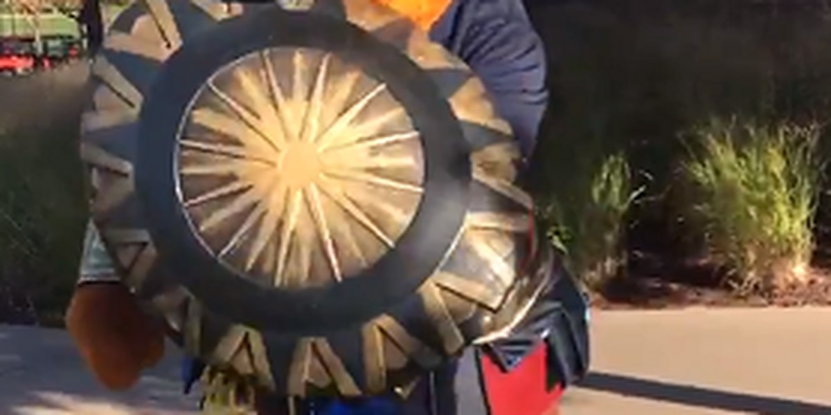 Is Akron's mascot trying out for the Justice League?