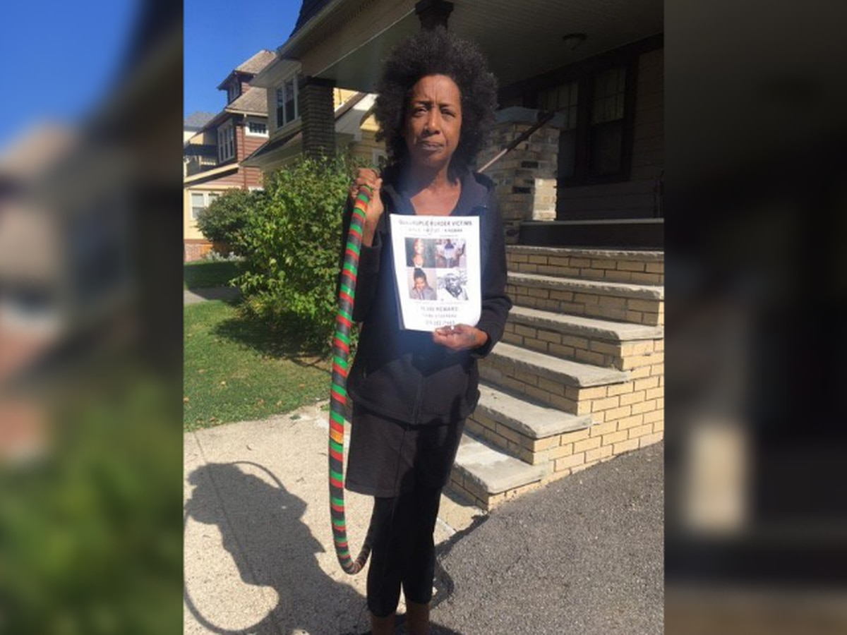 Cleveland woman hula hoops to bring attention to quadruple homicide victims