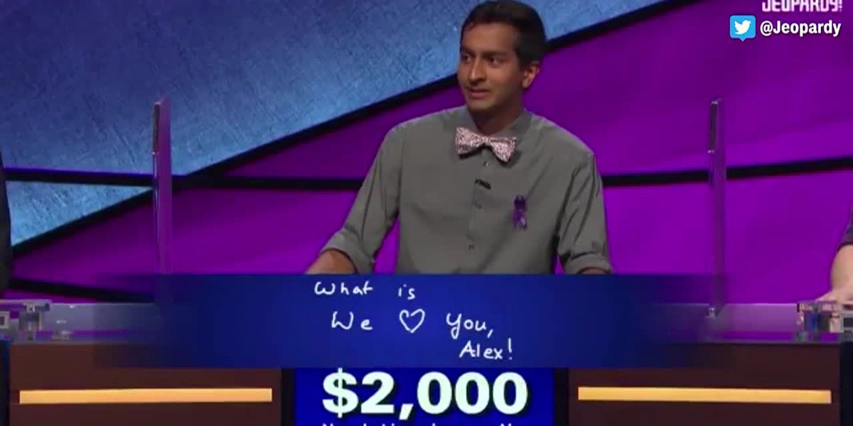 'Jeopardy!' host Trebek chokes up over contestant's heartfelt message