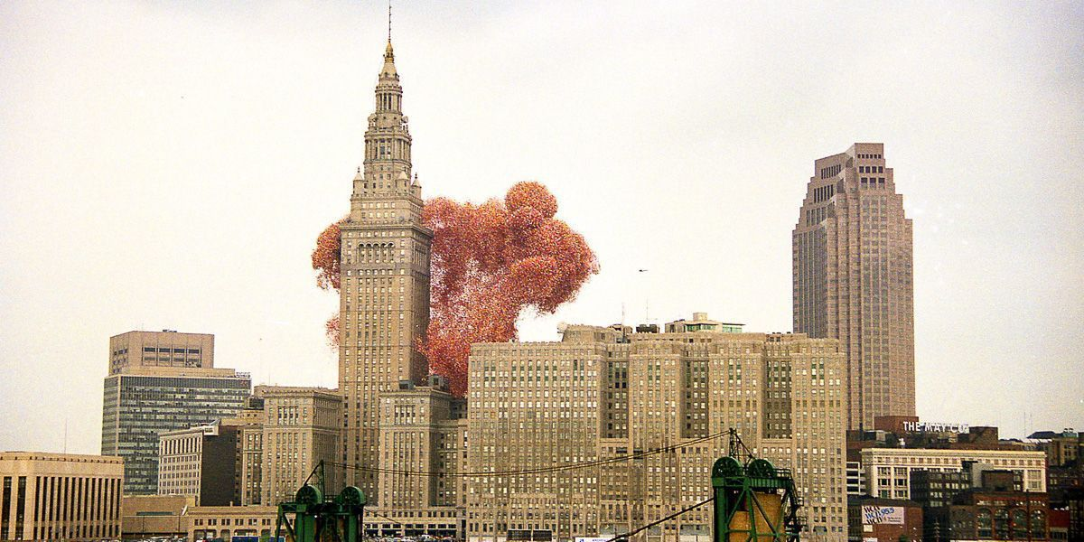 Why is Snoop Dogg posting about that time Cleveland released 1.5 million balloons into the air?
