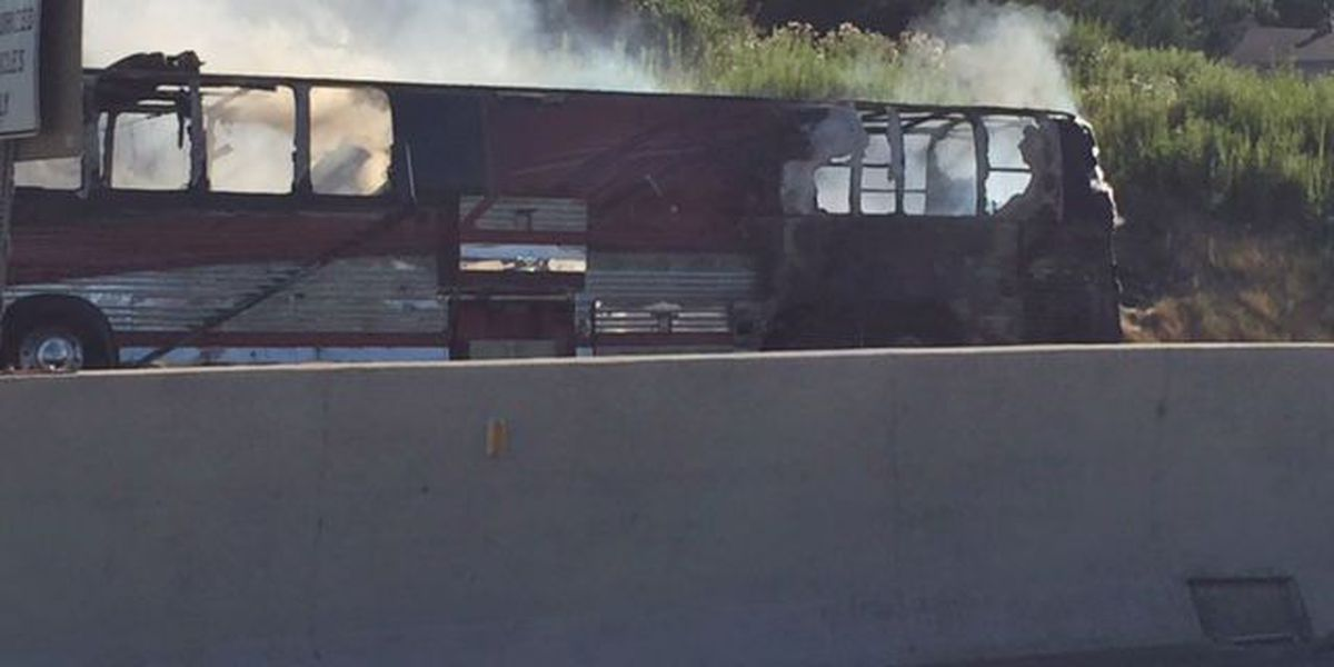 No injuries after bus bursts into flames on turnpike