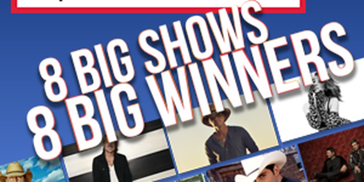Live Nation - Country Ticket Giveaway - 8 Big Shows, 8 Big Winners ~ Official Promotion Rules