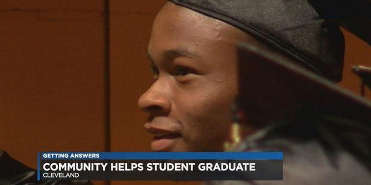 Community helps Glenville student graduate