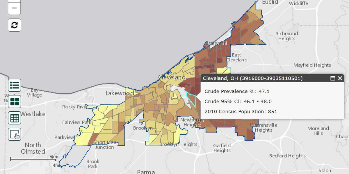 Cleveland's unhealthy behaviors hyperlocally measured by new ... on
