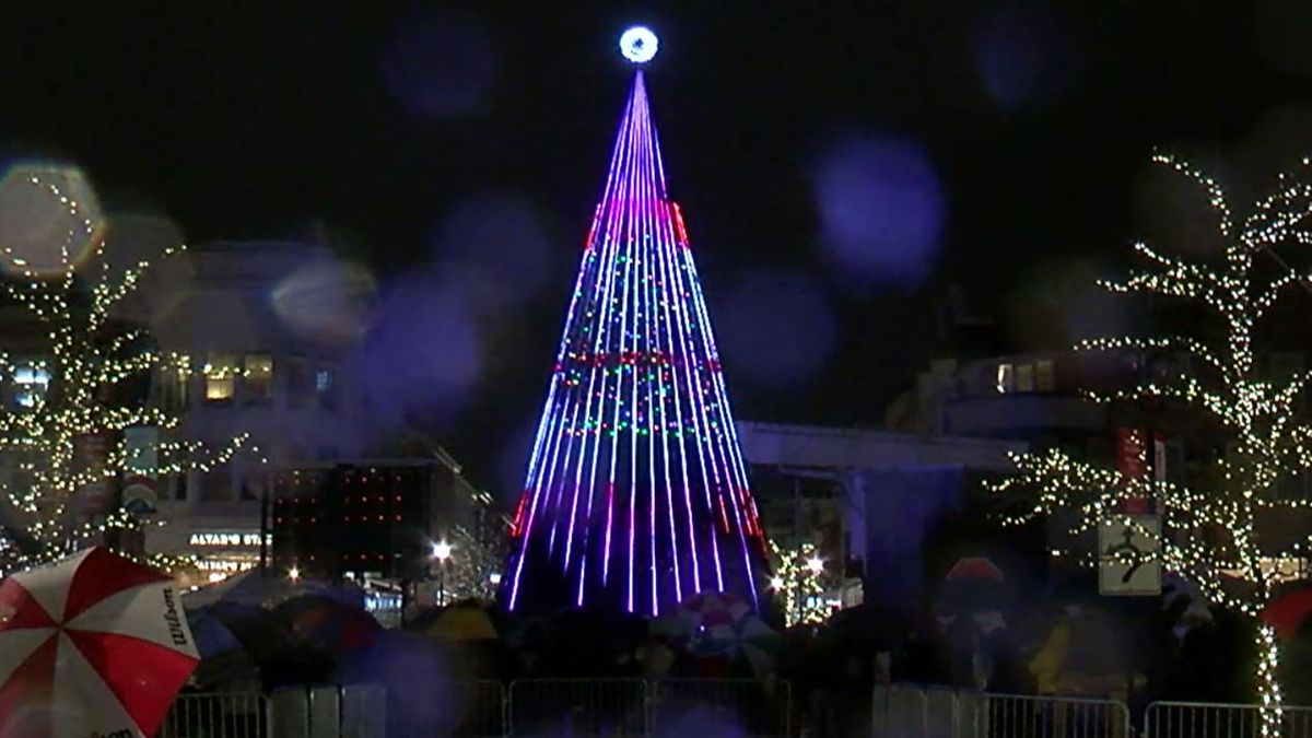 Crocker Park's 50-foot Christmas Tree Is Set To Light Up