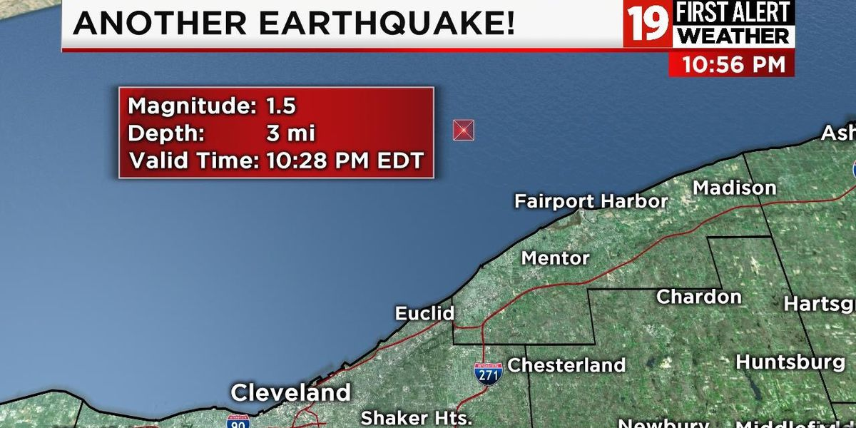 1.5 magnitude earthquake recorded in Northeast Ohio