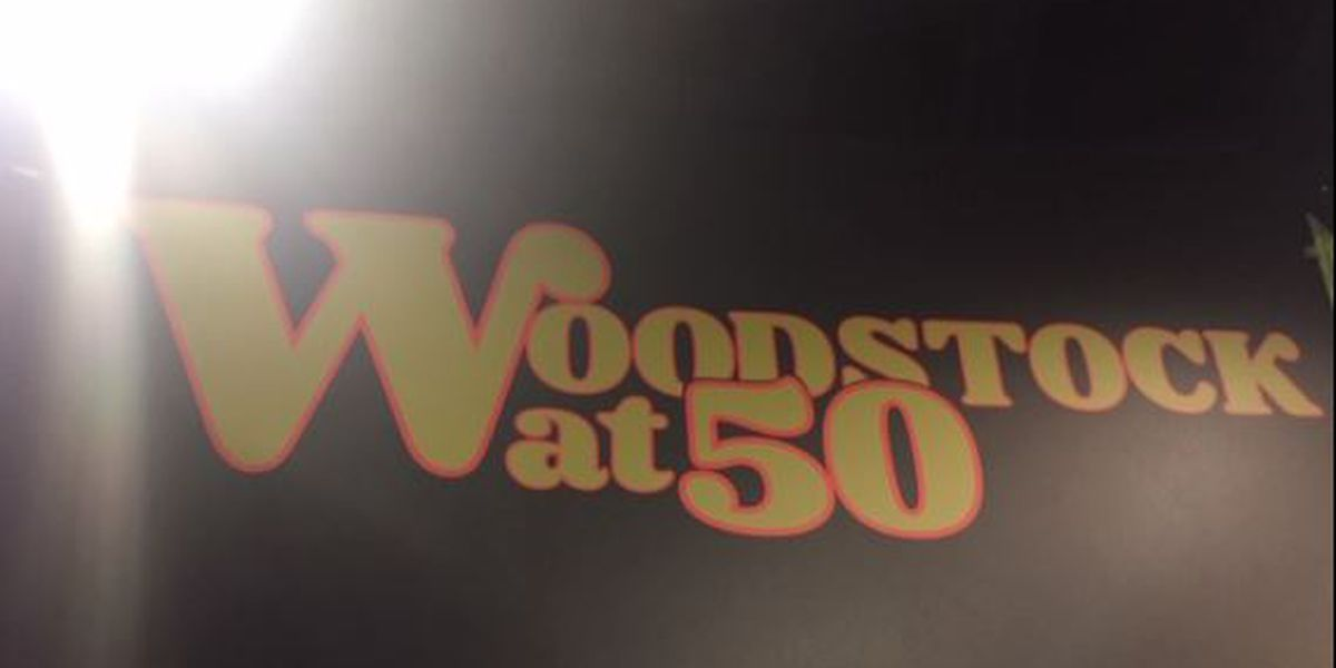 Part of the Woodstock stage donated to the Rock Hall
