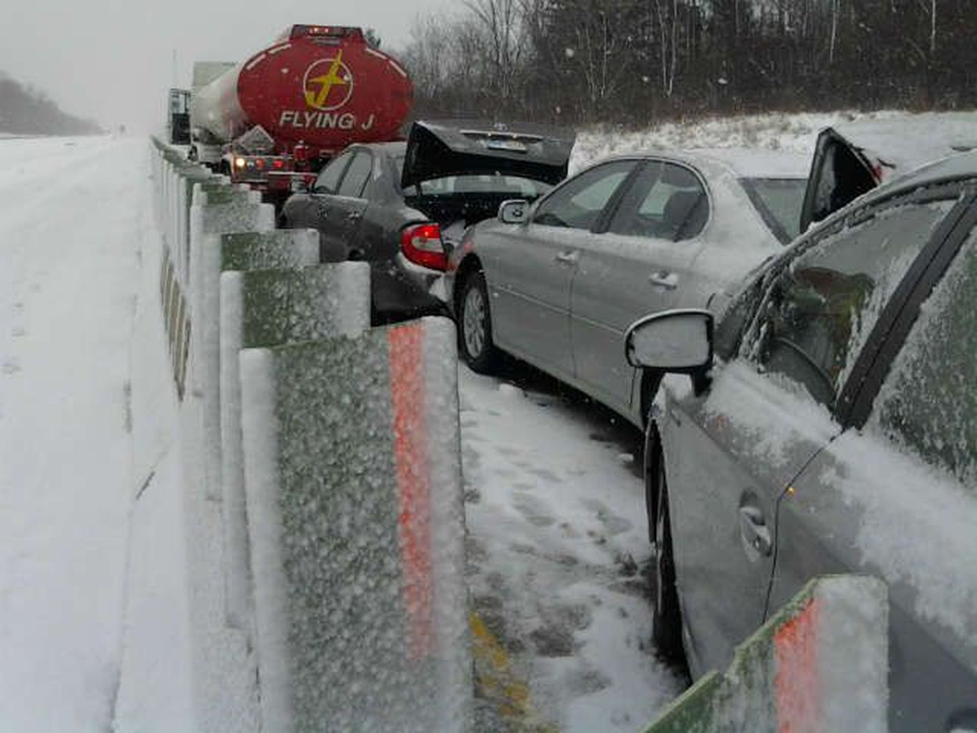 Lake County: I-90 EB RE-OPENED after accident in Leroy