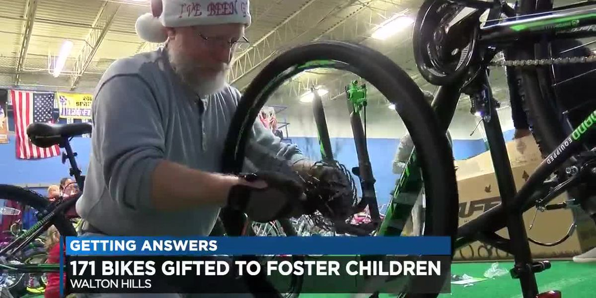 171 Foster Children in Cuyahoga County are about to receive a bike for Christmas