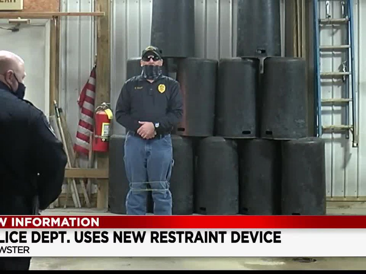 Brewster Police Department using new restraint device that wraps up suspects