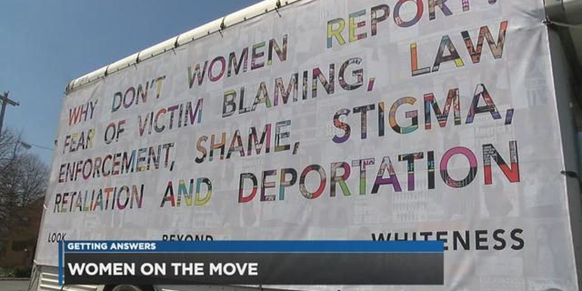 Women on the Move 'Louder Than Words' art truck rolling through Cleveland