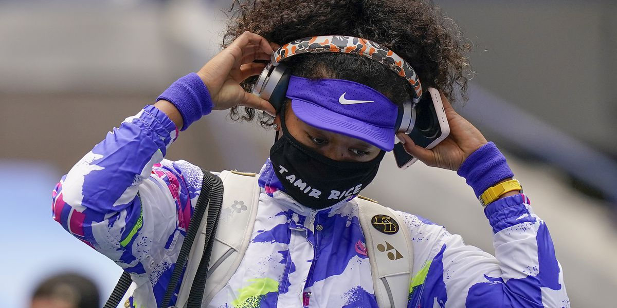 US Open winner wears mask with Tamir Rice's name on it before tennis championship