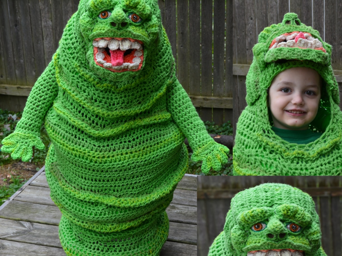 Mentor mom crochets unbelievable Halloween costumes for her kids