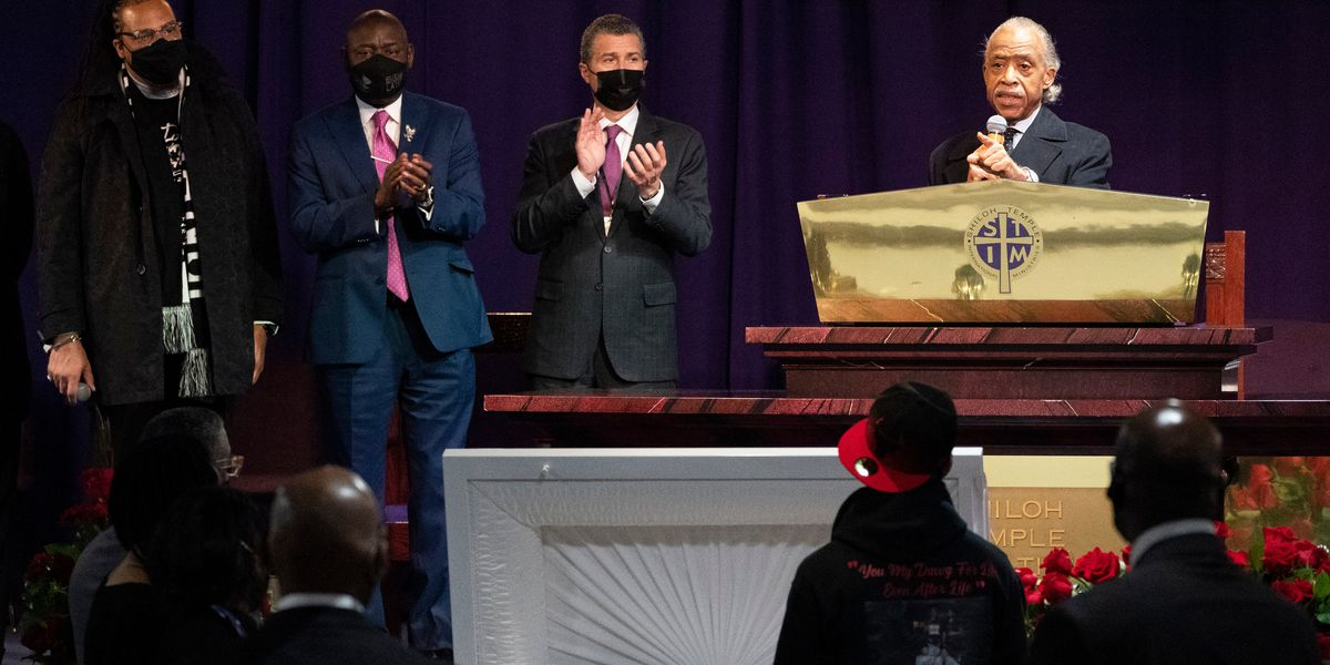 Sharpton decries 'stench of racism' at Daunte Wright funeral
