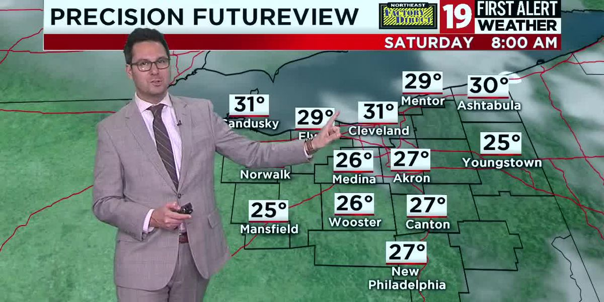 Northeast Ohio weather: Warming up by late in the weekend