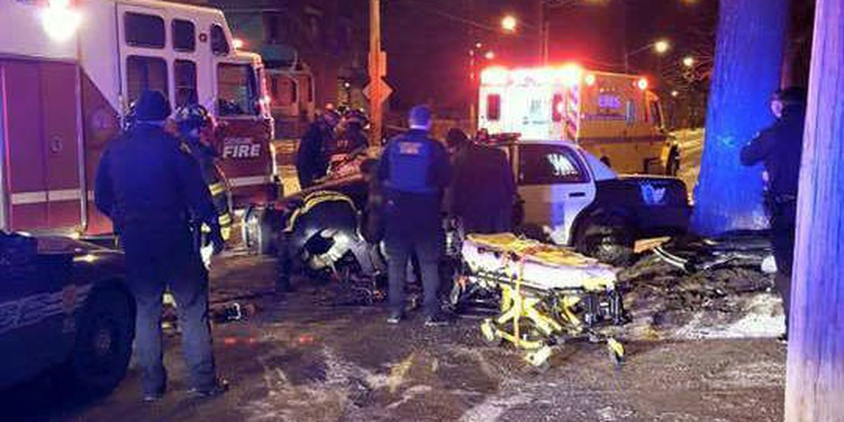 Icy road may be to blame in CLE police officer crash