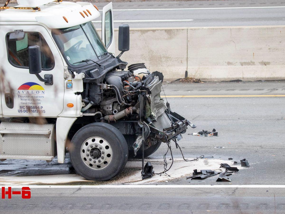 4-car crash involving semi-truck snarled I-90 in Westlake (photos)