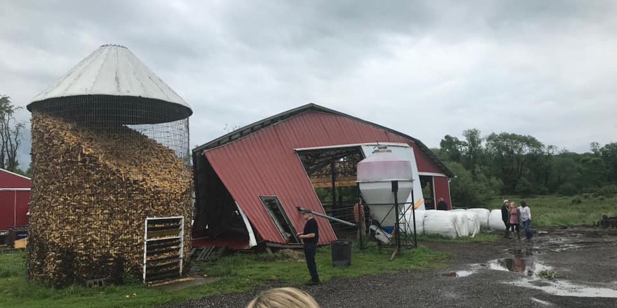 Apparent tornado spotted in Geauga County, severe weather knocks down barn and rips off roof