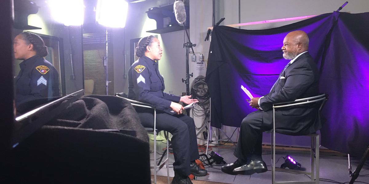 Cleveland police officers, students talk about policing in their communities