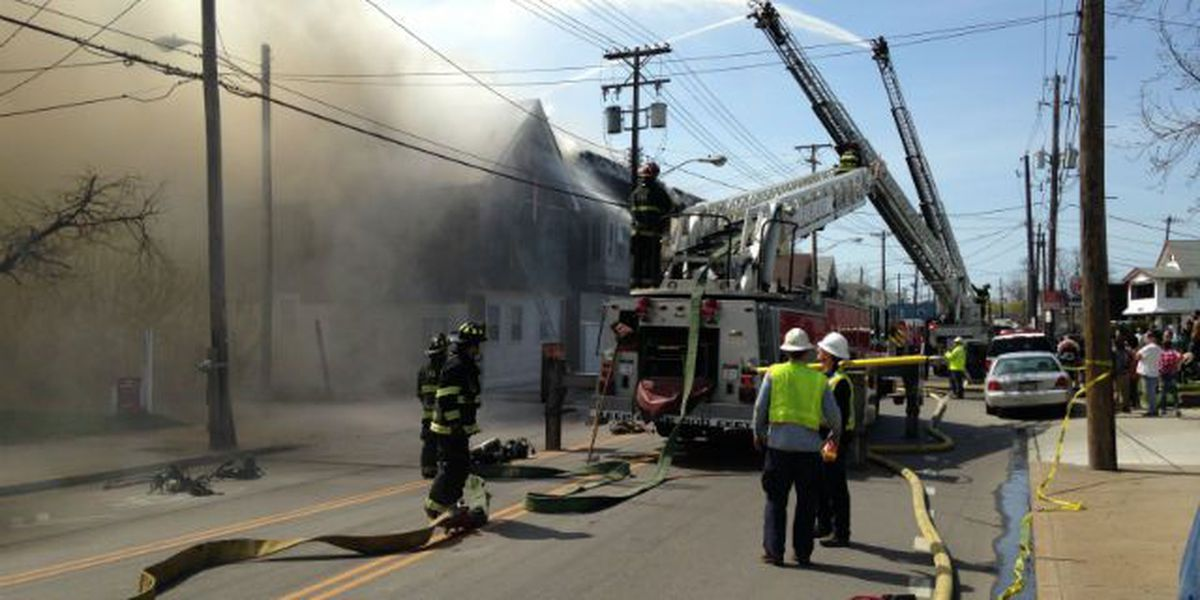 Two-alarm fire burns on Cleveland's west side