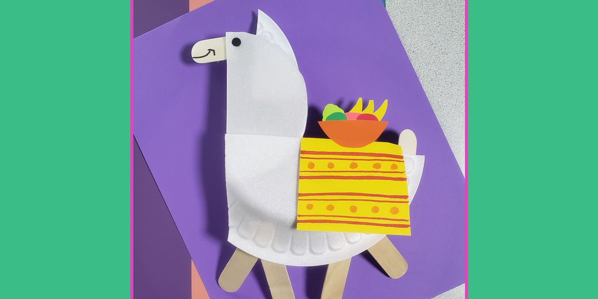 Family craft time! How to make a Picnic Plate Llama
