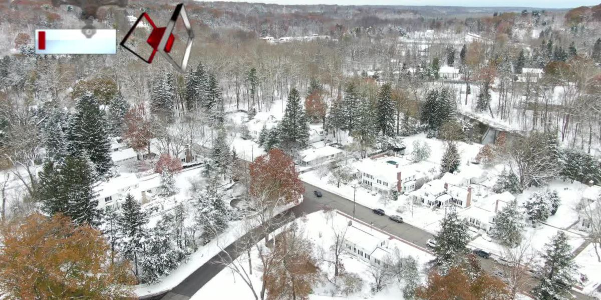 It's beginning to look a lot like Cleveland. Catch the snow from 300 feet up with Drone 19