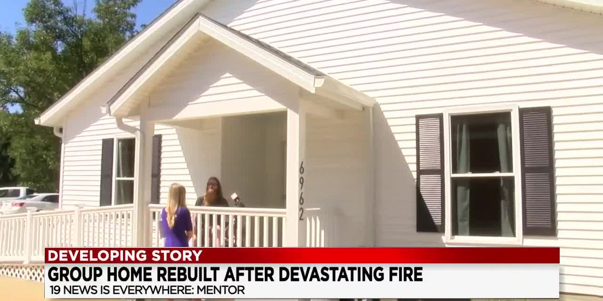 Disabled residents welcomed home to rebuilt house after it was destroyed by fire