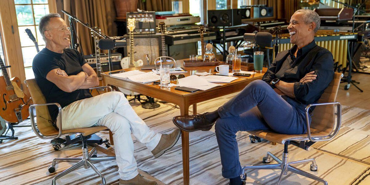 Podcast odd couple: Obama, Springsteen in Spotify series